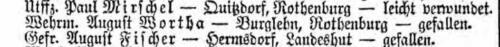 August Wortha Liste Preußen 181 vom 23.03.1915