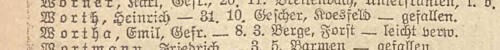Emil Wortha Liste Preußen 1217 vom16.08.1918