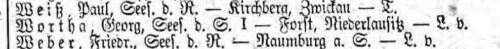 Georg Wortha Liste Preußen 14 vom 09.01.1915