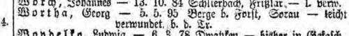 Georg Wortha Liste Preußen 802 vom 05.04.1917