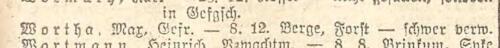 Max Wortha Liste Preußen 1248 vom 21.09.1918