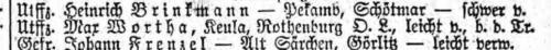 Max Wortha Liste Preußen 618 vom 28.08.1916