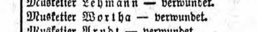 Wortha Liste Preußen 45 vom 25.09.1914